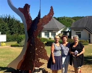 avec Mme Del Sole mair de Yainville et son adjointe à la culture.